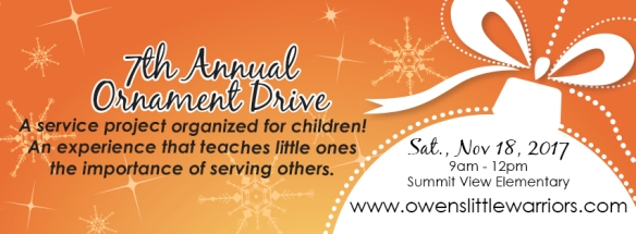 Owen_s Little Warrior Ornament Drive 2017